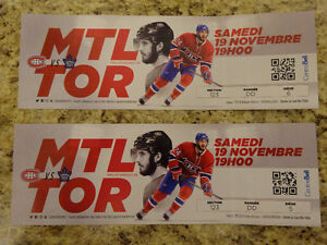 Toronto Maple Leafs at Montreal Canadiens Sat November 19th