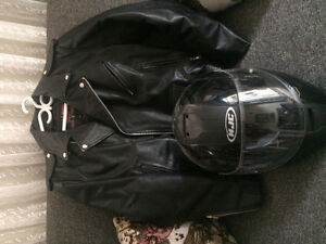star motorcycle jacket and hjc helmet