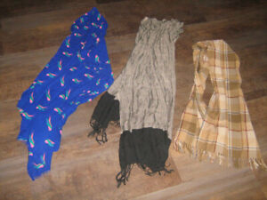 3 scarves - great condition - $5 for all
