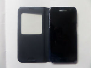 Samsung Galaxy S7 S-View Flip Cover Phone Case, Black Kitchener / Waterloo Kitchener Area image 3