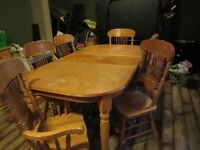 solide wood dining table set