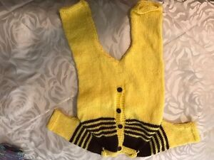 Handmade knitted clothes