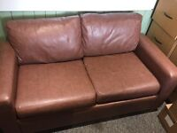 Luxury Brown Leather Sofa Bed