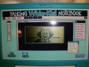 TALKING WHIZ KID ELECTRONIC NOTEBOOK 1993 VTECH WORKS GREAT