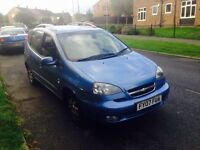 CHEVROLET TACUMA AUTO 2007 LOW MILES ONLY COVERED 56 k miles only £495