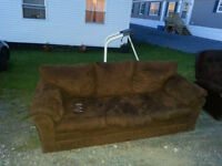 Choclate Brown Couch and Chair FREE!!!!!