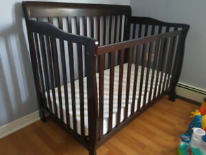 Crib for sale with high chair