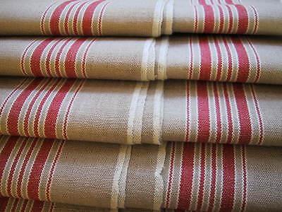 """alt """" Roll Mangeltuch """" kräftig rote Webkante/Bordüre """" beer garden tablecloth"""