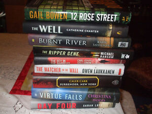 MYSTERY HARDCOVER FICTION ONLY $5 EACH BOOK LOWEST PRICES