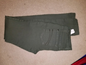 Brand New Second Yoga Jeans Army Green