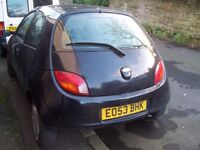 53reg little Ford KA, CHEAP ! only £225 for quick sale, LOW mileage, good body.