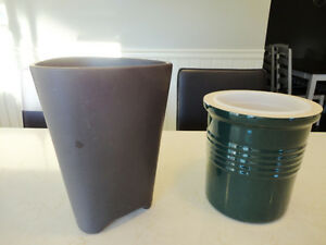 Two New Ikea Ceramic Pots  Both for $10.00 total or $6.00 each.