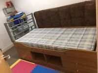 Cabin Bed with mattress and headboard