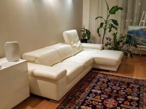 Divan/canapé en cuire -- Leather sofa/couch