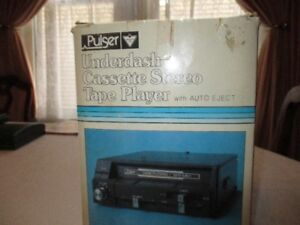 Car Underdash Cassette Stereo Tape Player