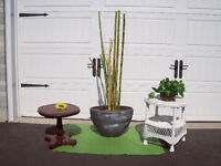 B - 2 TABLES OR PLANT TABLES + PLANTER + CHAIR** SEE EACH PRICE