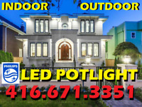 QUALITY POTLIGHT INSTALLATION WITH RELIABLE PHILIPS® LED $55