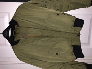 Top Shop Army Green Bomber Jacket