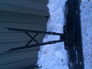 Atv plow with mount (needs some work)