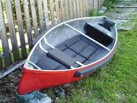 12 foot square back canoe with motor