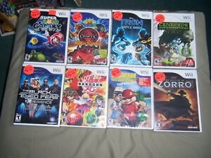 FOR SALE 51 WII GAME,S 6 NOT OPEN, 10 SOLD TODAY.ON KIJIJI
