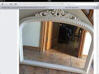 Large cream mirror