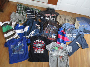 Boys size 7/8 short and long sleeve tops