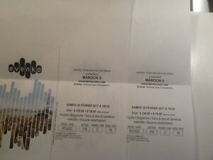 Maroon 5 - Red tickets / Billets Rouge - Maroon 5