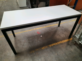 Office desk table white with dark grey legs - choice of 3
