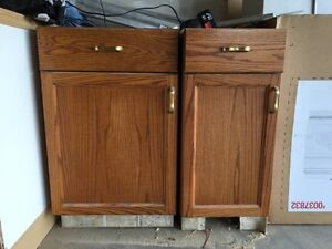 Real wood cabinets