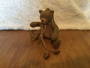 2 ANTIQUE WOOD CARVED BEARS