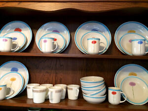 Plates bowls and cups set