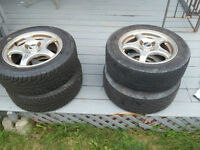 4 summer tires(P195/60r15) on mags for sale
