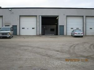 INDUSTRIAL space with SHOP and OFFICES, 14' DOORS, SECURE YARD
