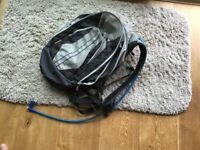 Rucksack with incorporated water bottle