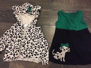 Gymboree Dalmatian dress & sweater