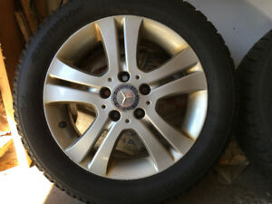 Mercedes rims and winter tires 5 x 112 Bolt Pattern