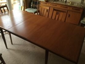 G Plan Extending Dining Table & 8 Chairs