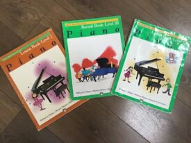 3 learn to play piano books. Grade 1-2
