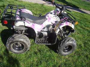 125cc ATV with purple camo