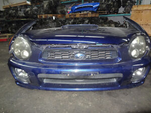 JDM GDA V7  (wrx 2001-2005 sedan) nose cut with fenders and hood