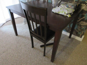 Dark Wood, Square Dining Table - No chairs included Kitchener / Waterloo Kitchener Area image 2
