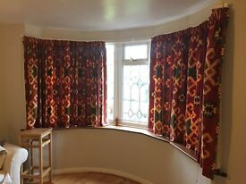Curtains for large bay window