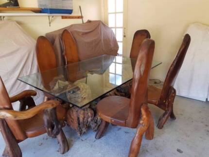 Vintage Dining Table and Chairs - Antique Chair Dining/bedroom Vintage Antiques Gumtree Australia