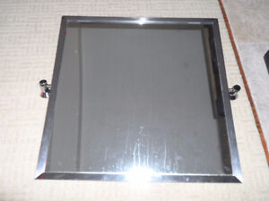 SQUARE MIRROR WITH CHROME TRIM