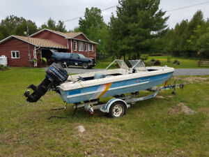Boat moter and trailer
