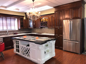 Walnut Glaze maple solid wood beautiful kitchen on Sale!!