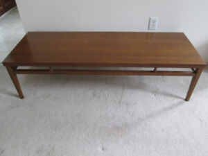 Mid Century Lane Tuxedo Rosewood Bow-tie Walnut Coffee table