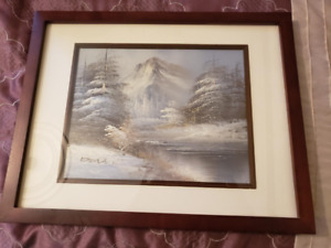 small painting - winter scape