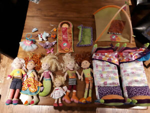 Groovy Girls dolls, bunk and tent